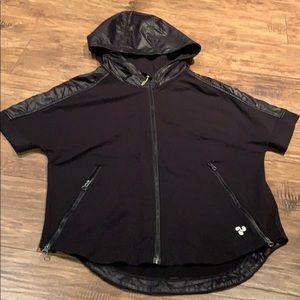 Triple flip short sleeve hoodie